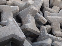 I-shaped man made concrete rock Royalty Free Stock Photos