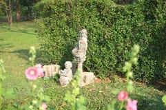 Kid`s statue in Queen Sirikit Park stock image