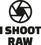 I shoot raw. Occupation vector Royalty Free Stock Images