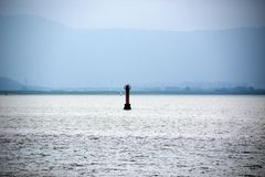 LIGHTHOUSE IN SHENZHEN BAY FROM AL stock image