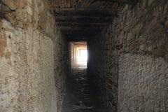 I sida av den Shey slotten Arkivfoto