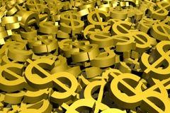I simboli dei milione dollari Immagine Stock