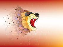 I simboli del ribassista e del toro sul mercato azionario vector l'illustrazione vector i grafici dei prodotti o dei forex, su fo royalty illustrazione gratis