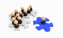 I simboli di affari, puzzle si uniscono Immagini Stock