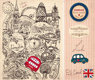 I simboli di Londra Fotografia Stock