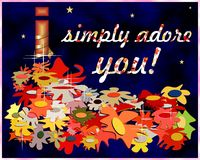 I simply adore you Stock Image