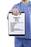 I sintomi dell'ebola includono Fotografia Stock