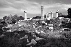 I siti occidentali di vecchio palazzo di estate Fotografie Stock Libere da Diritti
