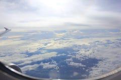 In i skyen Arkivbild