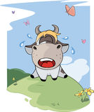 I small lost cow. Cartoon Royalty Free Stock Image