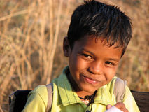 I am Smart. A cute Indian boy smiling Stock Photo