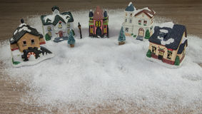 By i snön Arkivfoton