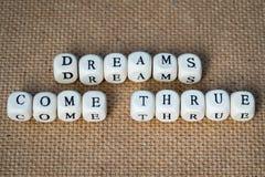 I sogni vengono thrue immagine stock