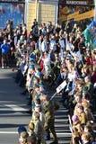 I soldati delle truppe disperse nell'aria fotografia stock libera da diritti