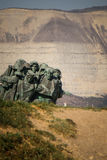 I soldati scalano la montagna Fotografie Stock Libere da Diritti