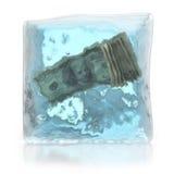 I soldi congelati depositano il concetto Immagine Stock