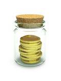I soldi/guadagni/HQ congelati 3d di investimento rendono Illustrazione Vettoriale