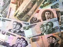 I soldi nordcoreani Fotografia Stock Libera da Diritti
