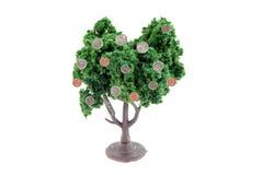 I soldi si sviluppano sugli alberi Fotografia Stock