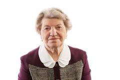 I sorrisi della donna anziana Fotografie Stock