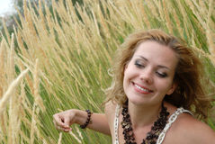 I sorrisi della ragazza Fotografia Stock Libera da Diritti