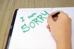 I am sorry Stock Image