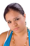 I am sorry. Pudgy latin girl with sorrow in her face Stock Image