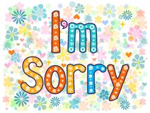 I am sorry design card Stock Images