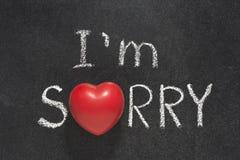 I am sorry heart Stock Photos