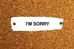 I am sorry. Illustration on white background stock illustration