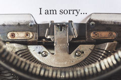 I am sorry message Royalty Free Stock Photos