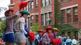 I sostenitori gay incoraggiano i corridori sull'evento di maratona di Chicago Fotografia Stock