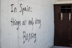 Spanien packar ihop kris royaltyfri fotografi