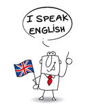 I speak english. This businessman speak english fluently Royalty Free Stock Photo