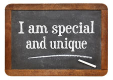I am special and unique - positive affirmation Stock Images