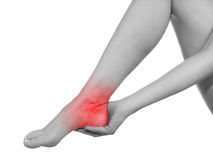 I sprained my ankle. Stock Image
