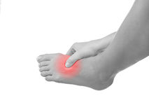 I sprained my ankle. Royalty Free Stock Photography