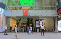 I Square Shopping mall Hong Kong. People visit i Square shopping mall Tsim Sha Tsui in Hong Kong Stock Photos