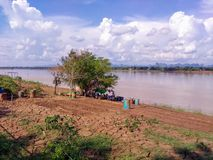 I staden på Nakhon Phanom royaltyfria foton