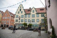 I stadens centrum Abensberg Royaltyfri Bild