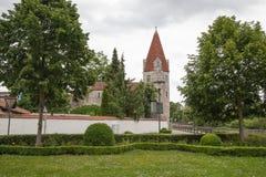 I stadens centrum Abensberg Arkivfoton