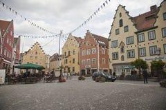 I stadens centrum Abensberg Royaltyfri Foto