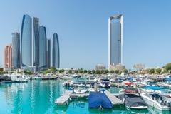 I stadens centrum Abu Dhabi Royaltyfri Bild