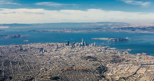 I stadens centrum Aireal sikt av San Francisco arkivfilmer