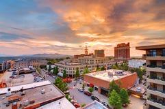 i stadens centrum asheville Royaltyfri Fotografi