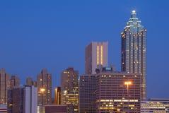 I stadens centrum Atlanta Cityscape Royaltyfria Bilder