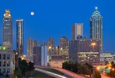 I stadens centrum Atlanta Cityscape Arkivbild