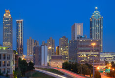 I stadens centrum Atlanta Cityscape Royaltyfri Fotografi