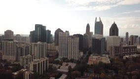 I stadens centrum Atlanta Georgia Aerial sikt lager videofilmer