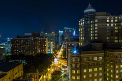 I stadens centrum Atlanta, GUMMItaksikt Fotografering för Bildbyråer